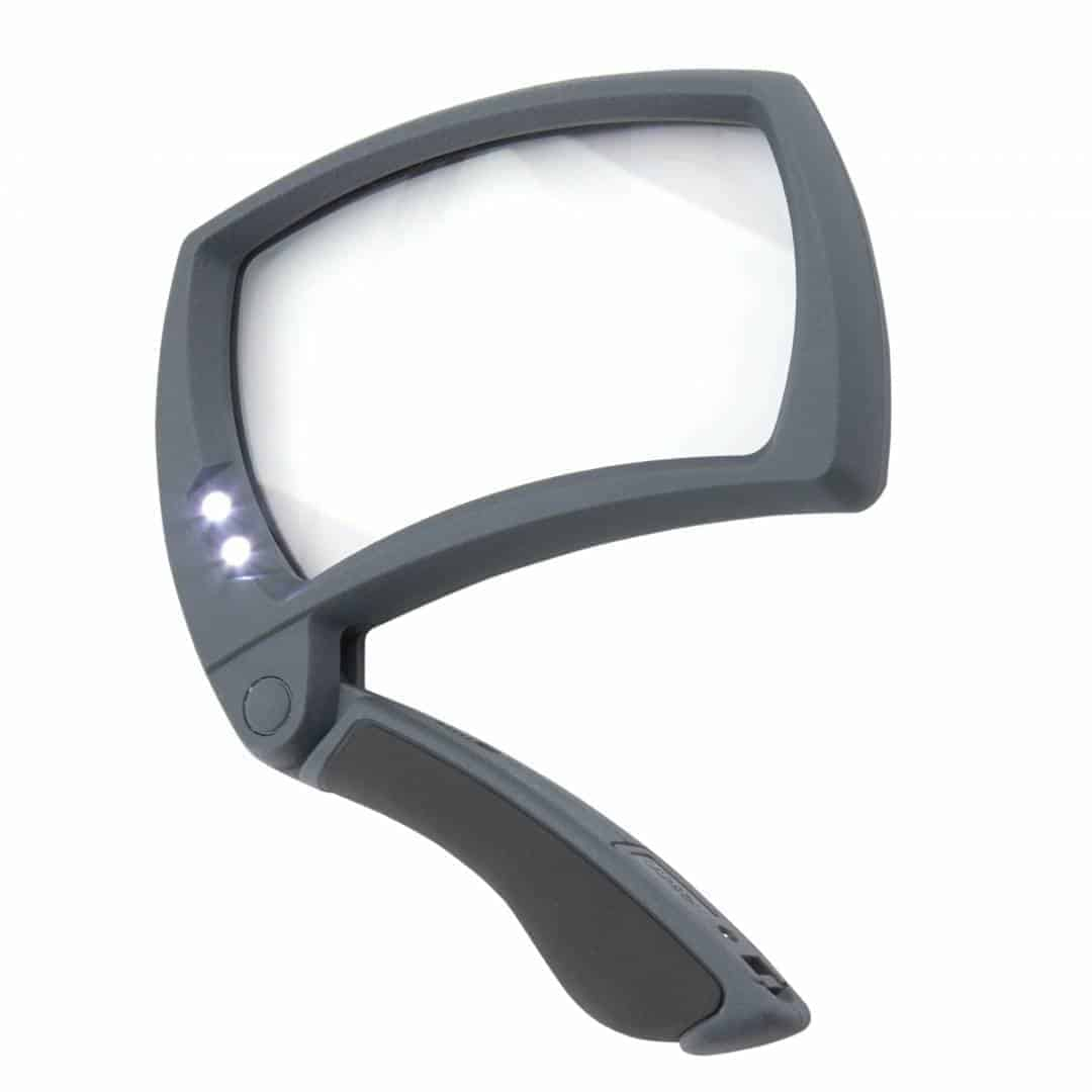 LED Lighted Magnifold Rectangular Collapsible 2x Magnifier