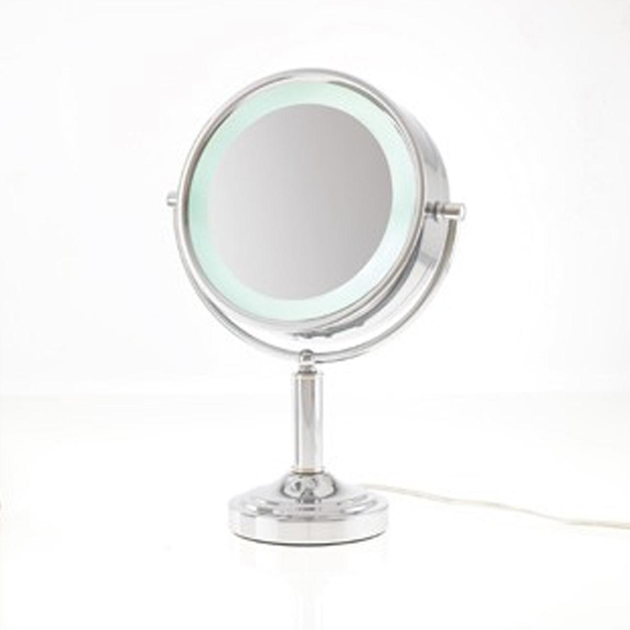 Danielle LED Lit Double Sided Vanity Mirror 15x - Chrome