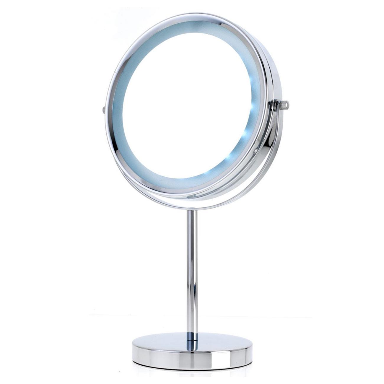 Danielle LED Lit 2-in-1 Mirror - Chrome - 5x