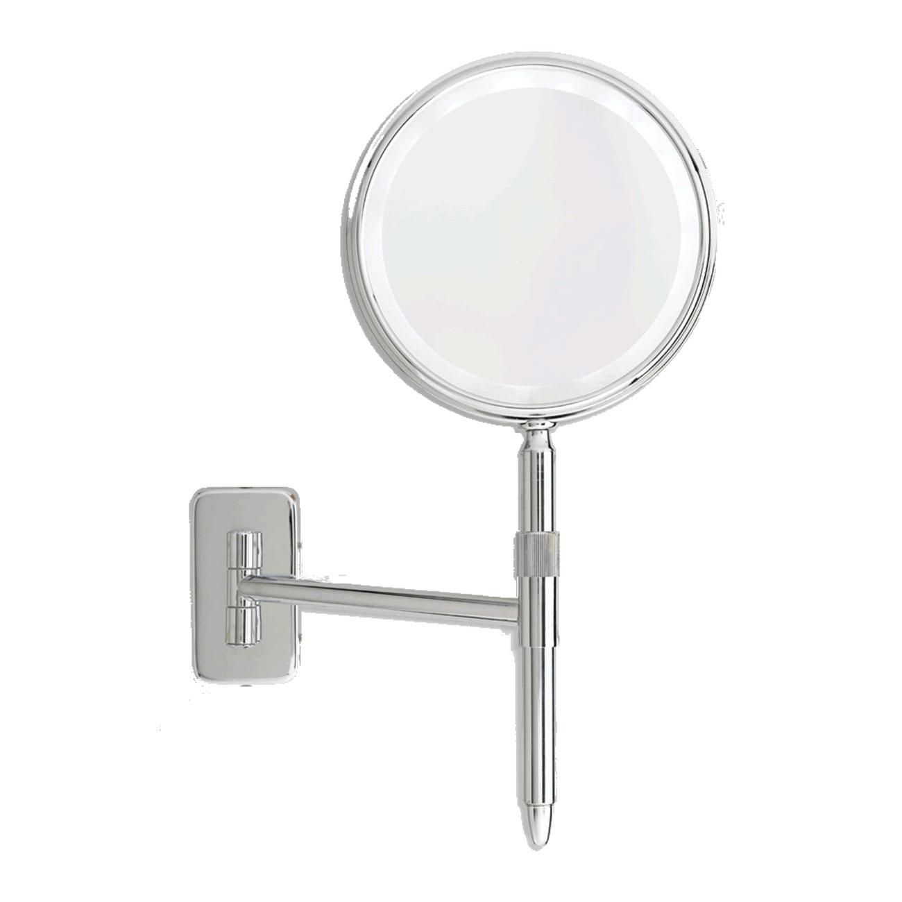 Danielle Wall Mount Hand Held Mirror LED 5X-E