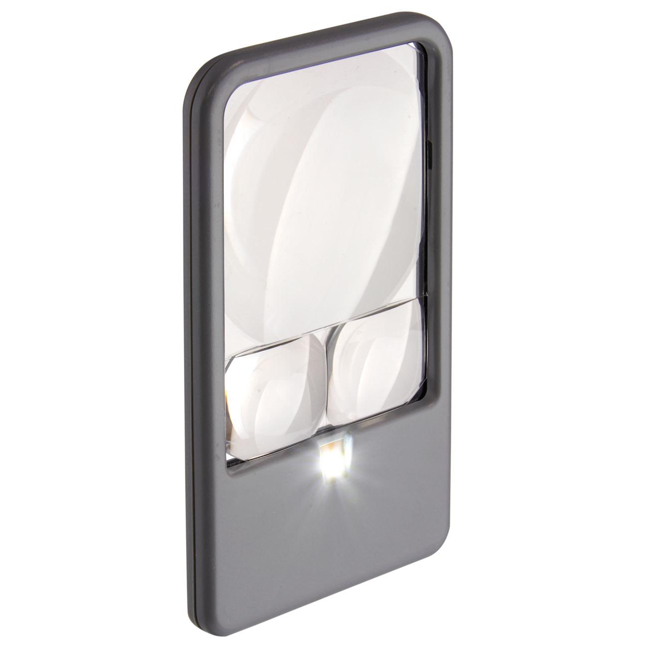 Multi-Power LED Pocket Magnifier- 2.5x-4.5x-6x