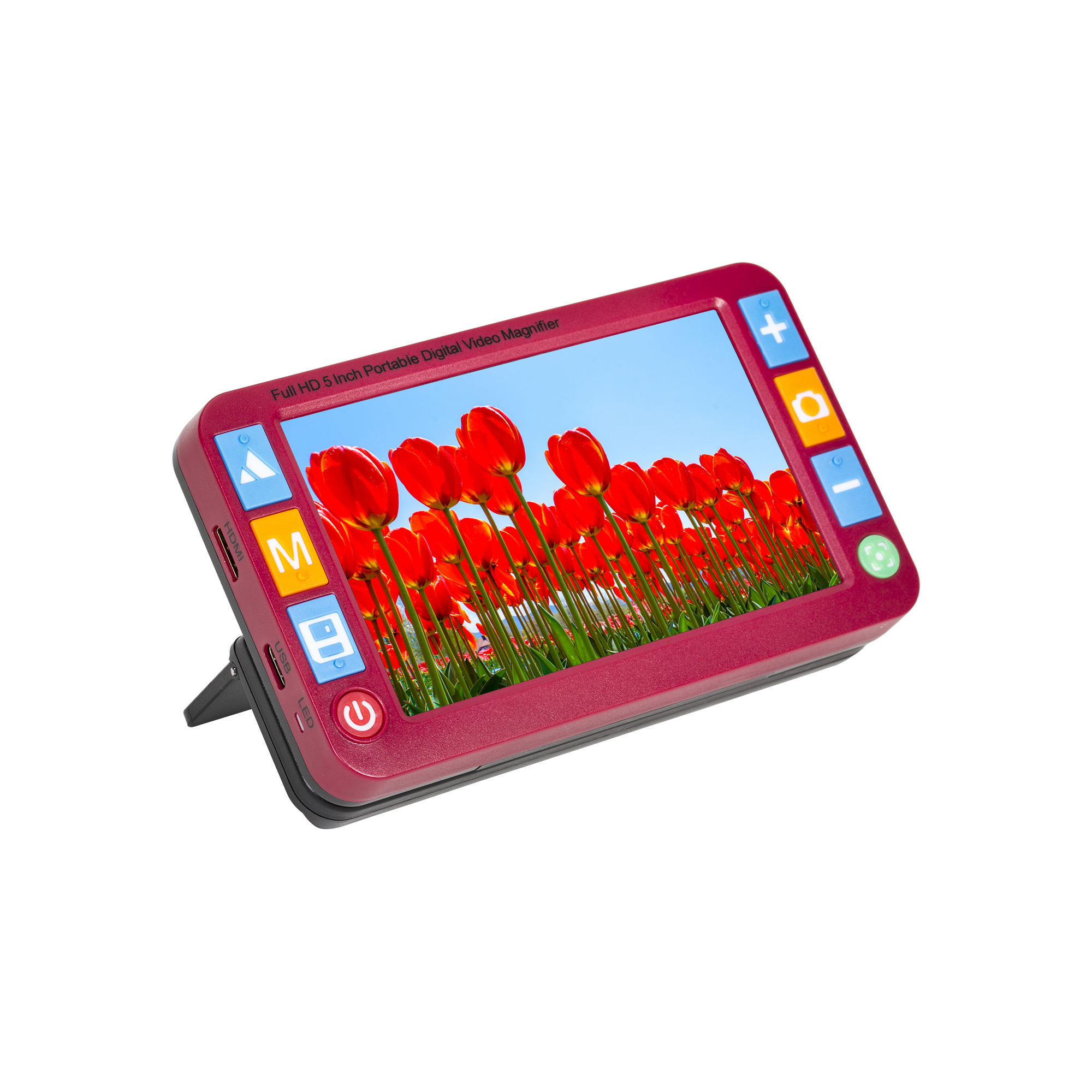 Reizen Portable Digital Video Magnifier with 5-inch LCD RED