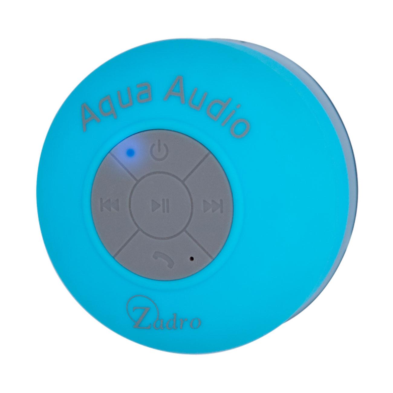 Zadro Aqua Audio Water-Resistant Bluetooth Speaker, White