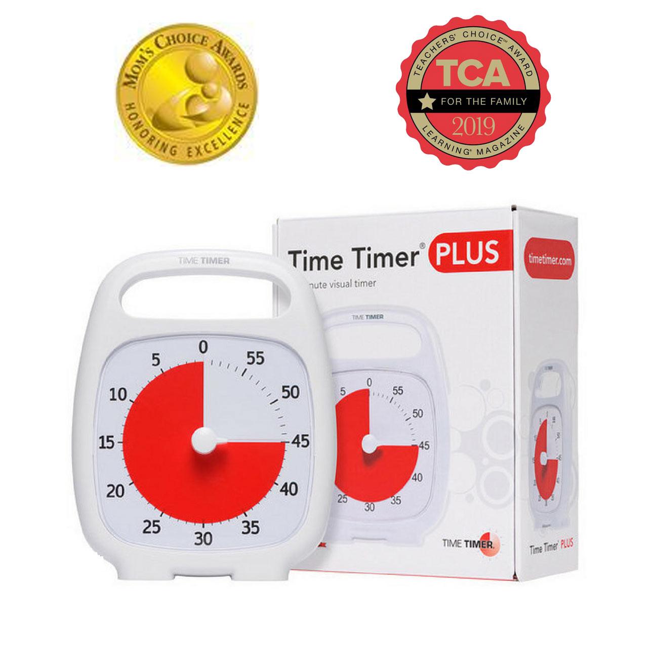 Time Timer Plus- 60 Minute- White