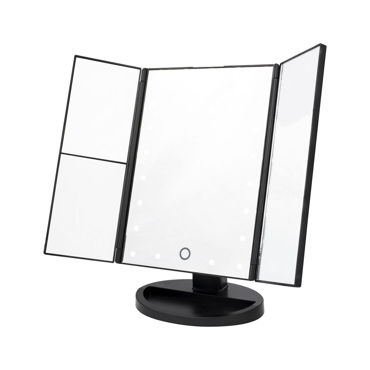 Danielle Tri-Fold LED Mirror - Black