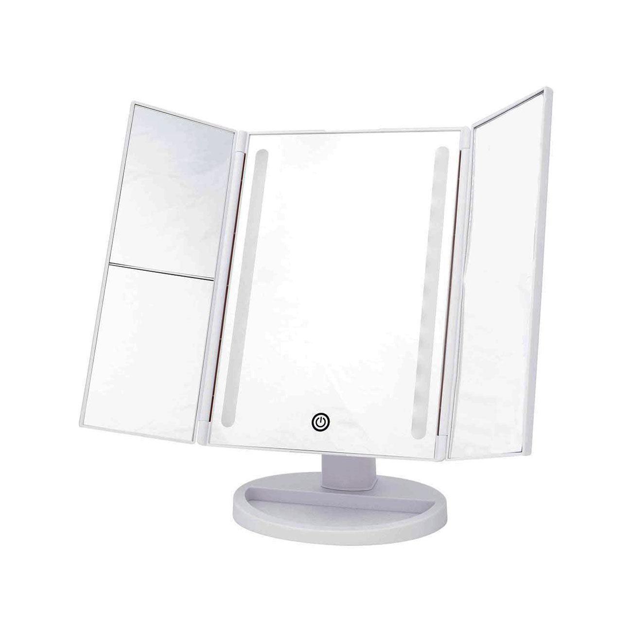 Danielle Tri-Fold LED Mirror - White