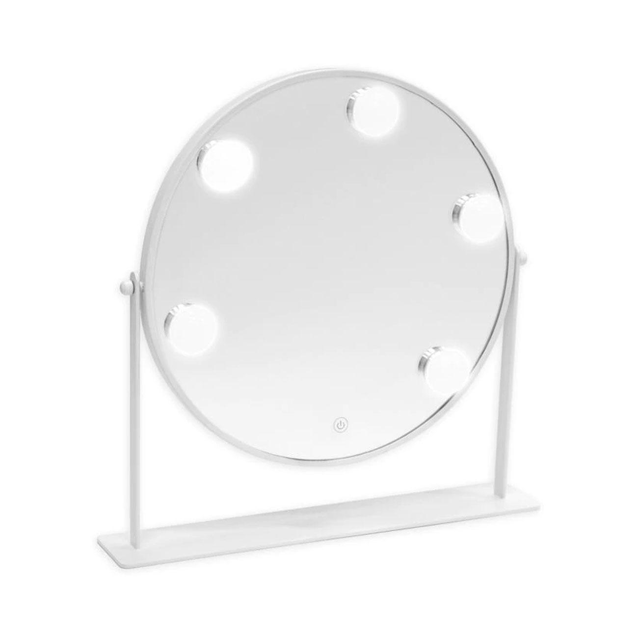 Danielle Round LED Hollywood Vanity Mirror - White