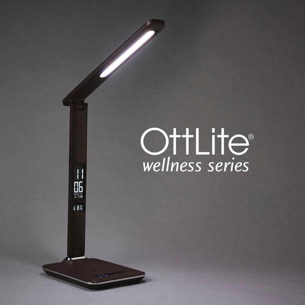 Ott-Lite Renew LED Desk Lamp - Brown