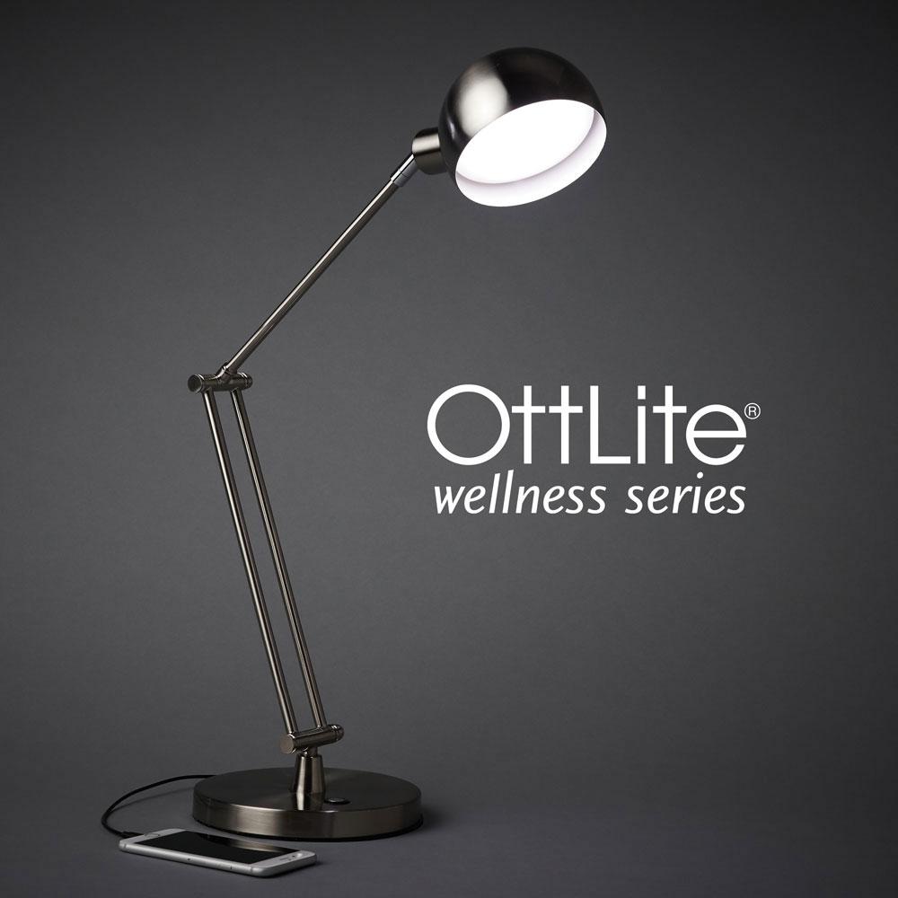 Ott-Lite Refine LED Desk Lamp - Nickel