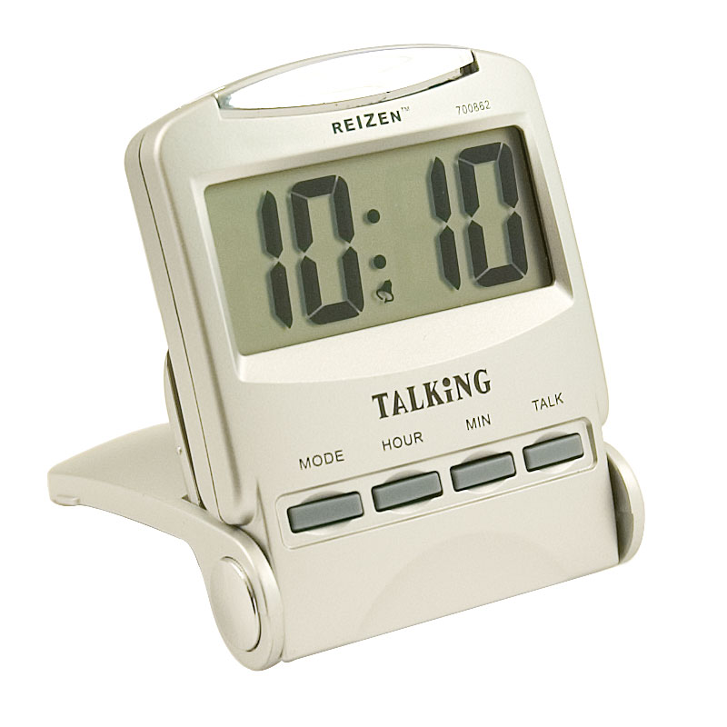 Reizen Talking Travel Alarm Clock - English