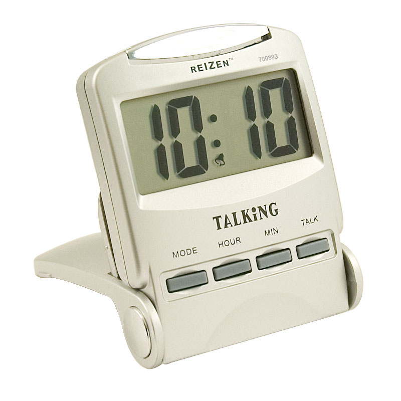Reizen Talking Travel Alarm Clock - Spanish