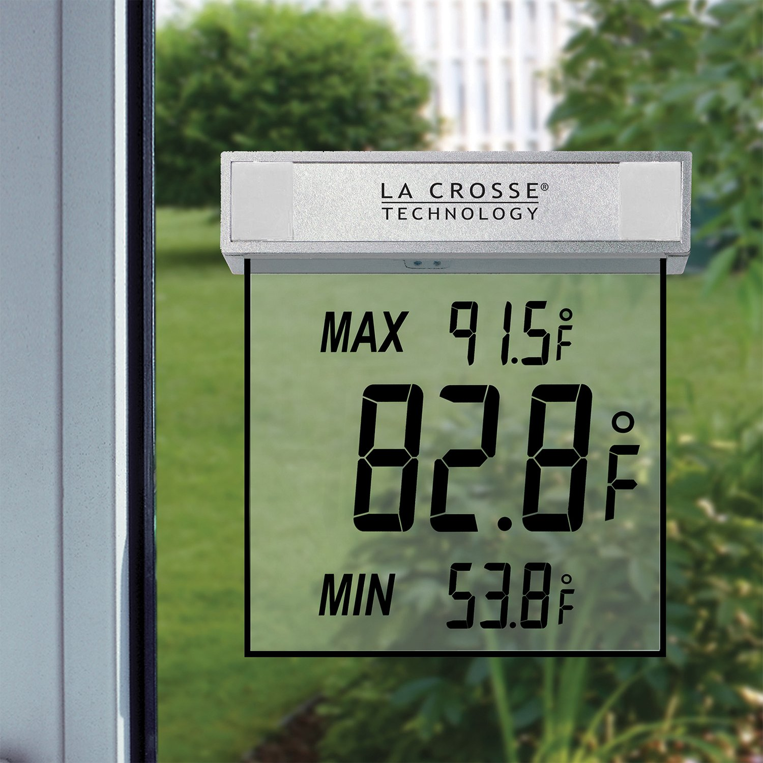 Outdoor Window Thermometer for Low Vision- 4in.
