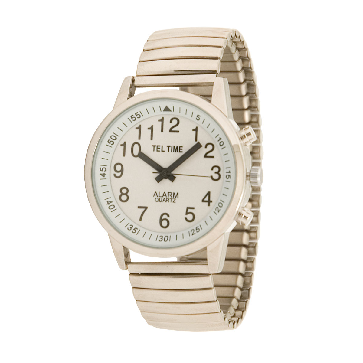 Mens Touch Talking Watch - Large Face - Expansion Band - English