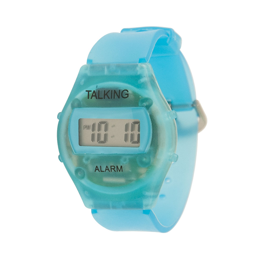 Childrens Kids Talking Watch - Spanish - Blue Plastic Band