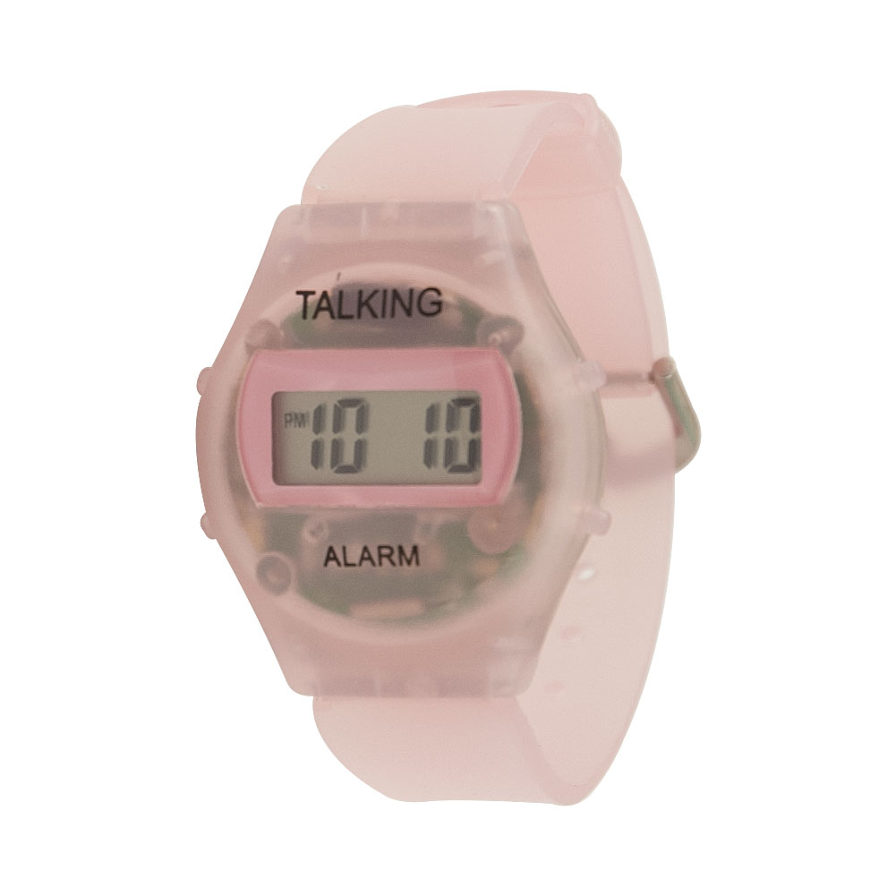 Childrens Kids Talking Watch - Spanish - Pink Plastic Band