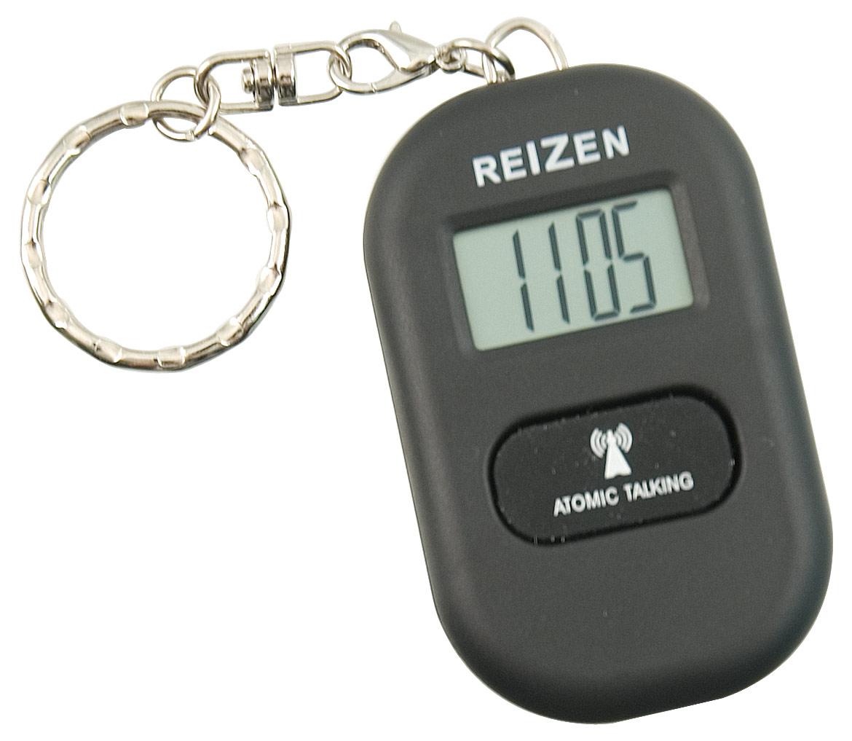 Reizen Talking Atomic Watch Keychain- Black
