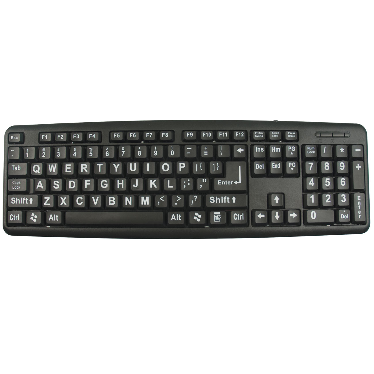 XLSee Large Print Keyboard- White on Black