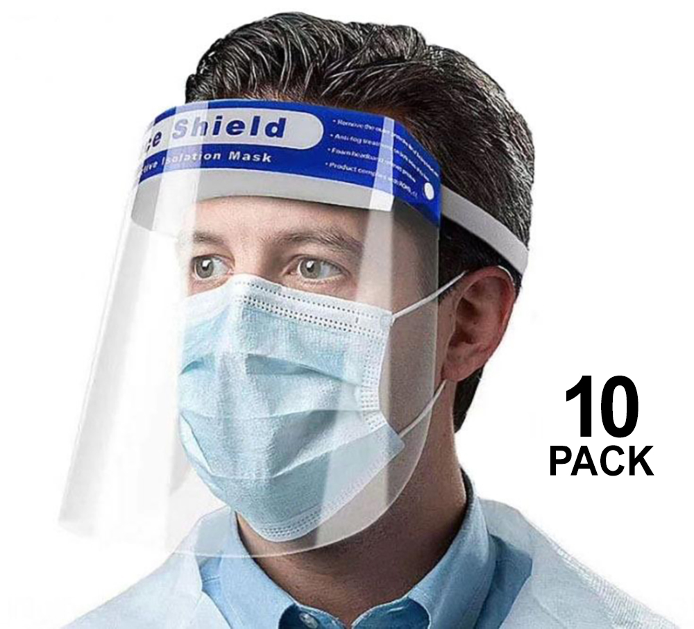 Protective Face Shield 10 PACK