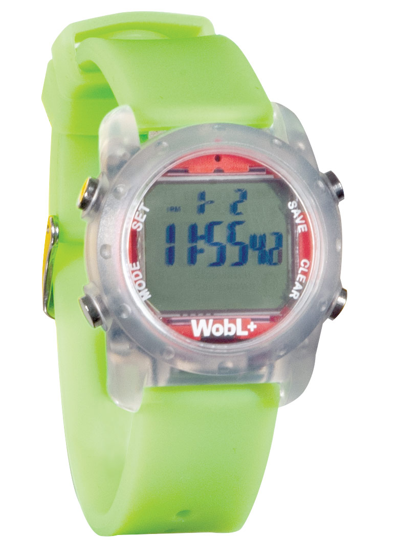 WobL+ 9-Alarm Vibrating Waterproof Reminder Watch- Green