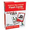 Sign2Me Flash Cards- Beginners Series Animals and Colors Pack
