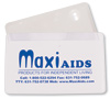 MaxiAids Card Magnifier with Case - 2x