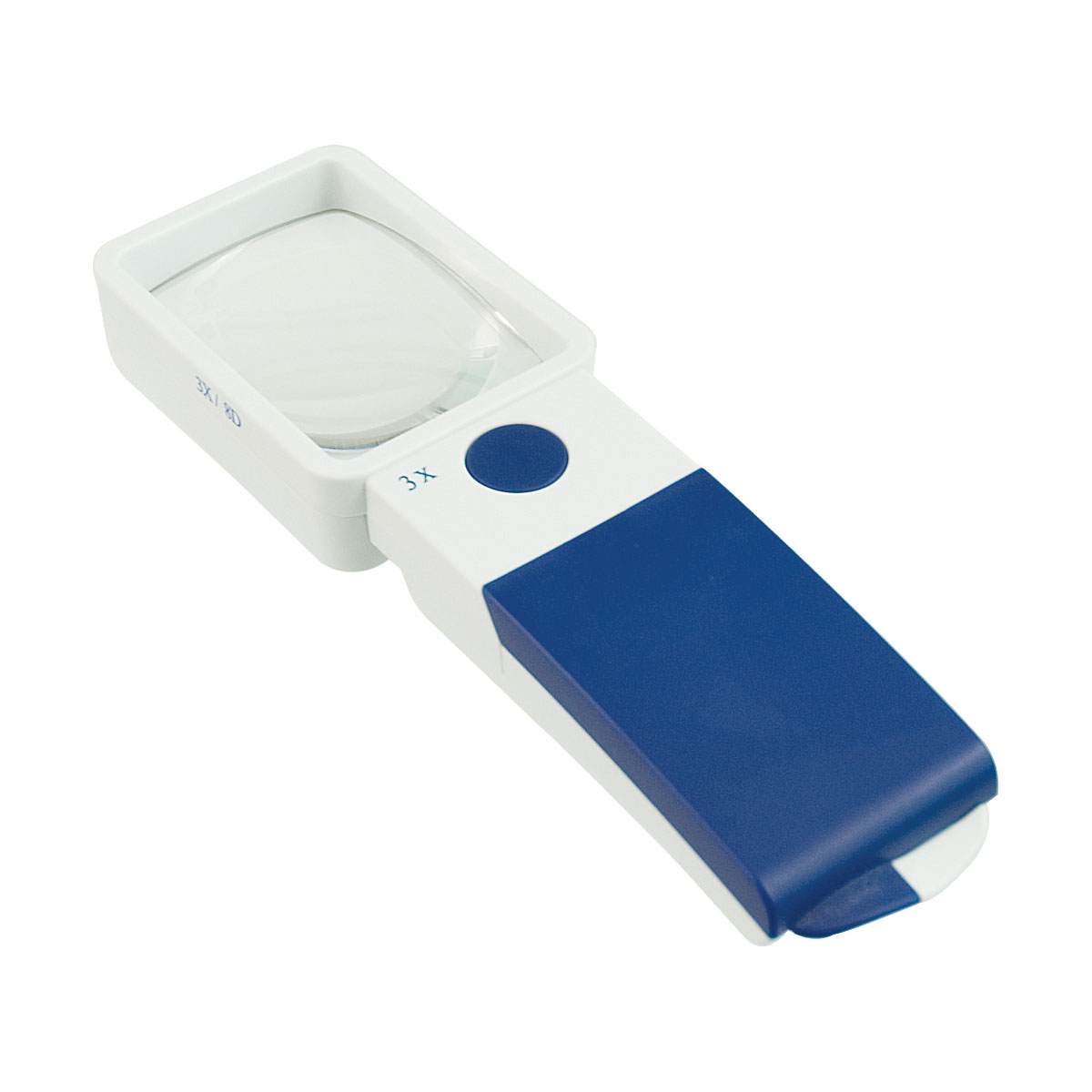 Reizen EZ Touch 3X 8D LED Handheld Magnifier - Rectangle Lens 50x75mm