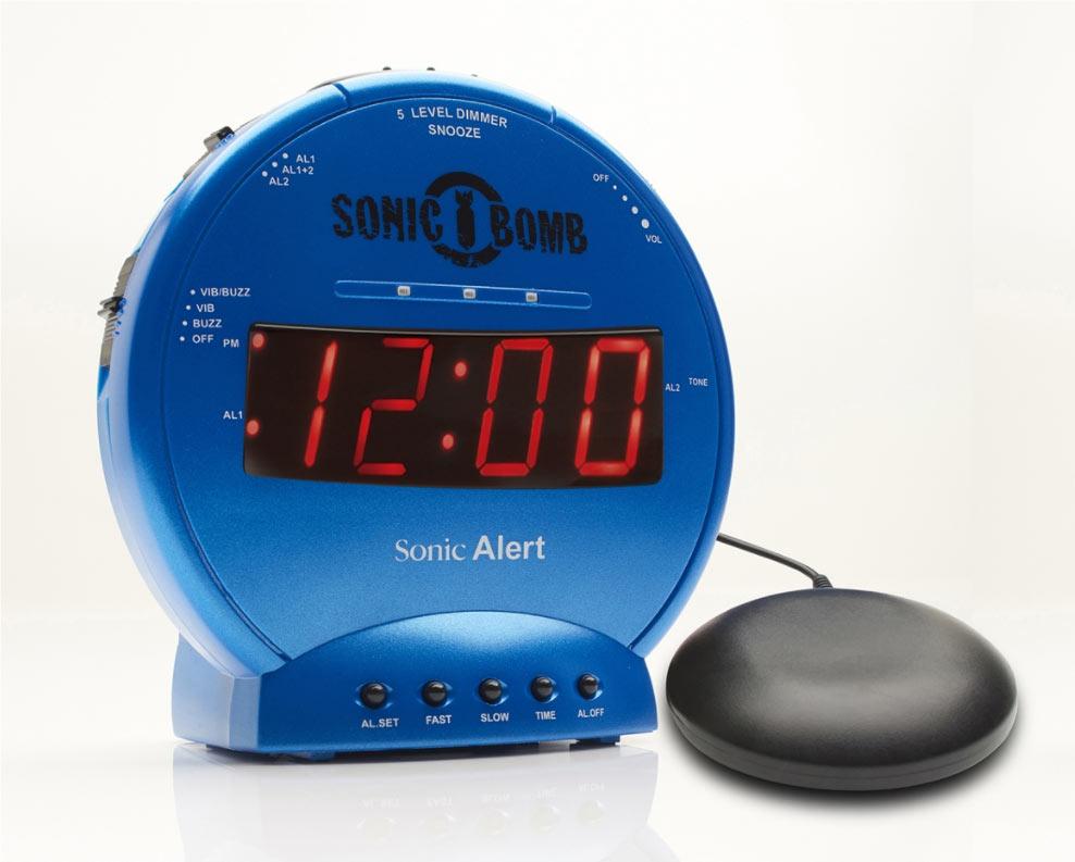 Sonic Bomb Alarm Clock and Bed Shaker - Turqoise