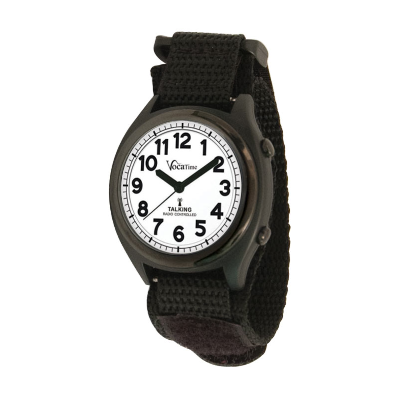 VocaTime Atomic Talking Watch with Black EZ Latch Band