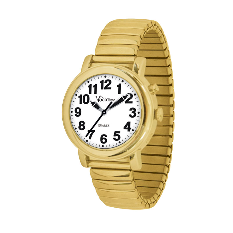 VocaTime Womens Gold Tone Talking Watch - Gold Tone Expansion Band
