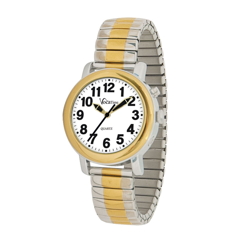 VocaTime Womens BI-COLOR Talking Watch - Stainless Steel Expansion