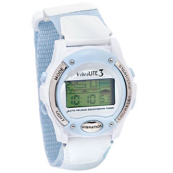 Vibralite 3 (White with Pale Blue Trim) Price: $49.95
